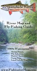 nantahala river map river fishing maps