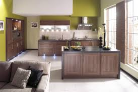 Living Room With Kitchen Design Modern Contemporary Green Kitchen Interior Design Color Kitchen