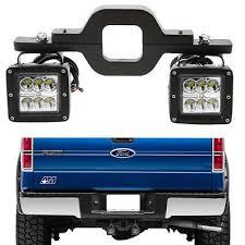 led backup light bar backup reverse tow hitch 2x 16w led fog lights bar fit toyota