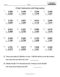 4 digit subtraction teaching squared