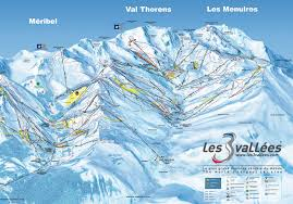 les menuires méribel and val thorens ski map