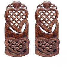 Wooden Home Decoration Onlineshoppee Wooden Home Decor Wall Hanging Rack Beautiful Design
