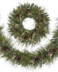 harvest pine wreath and garland treetopia