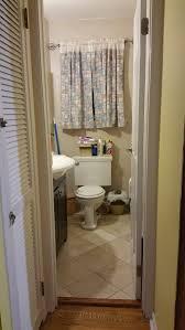 Narrow Powder Room - small powder room 4x3 narrow