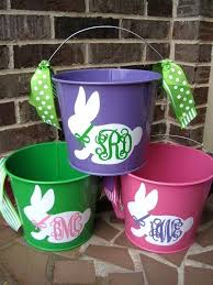 easter pails personalized easter buckets personalized 5 qt assorted