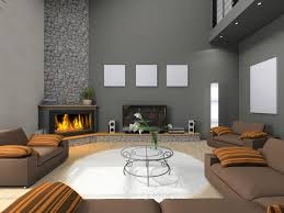 gray living room wall colors with corner electric fireplace and