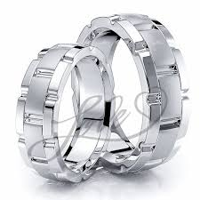 his and wedding rings solid 6mm rolex inspired matching his and hers wedding ring set
