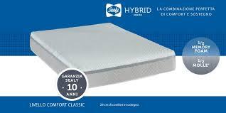 materasso sealy materasso sealy hybrid in memory foam e molle dimensione riposo