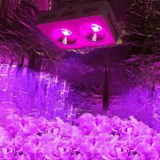 led grow light usa 2pcs 400w full spectrum led grow light panel reflector cob leds