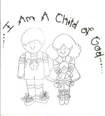 i am a child of god colouring page coloring sheet bible based