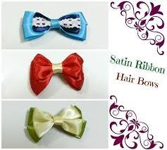 ribbon hair bows diy hair bows 4 ribbons how to make a ribbon hair bow jewelry