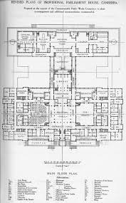 revised main floor plans of provisional parliament house canberra