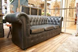 Black Leather Chesterfield Sofa Vintage Black Leather Chesterfield Sofa Sold