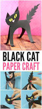 super simple black cat paper craft easy peasy and fun