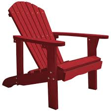 decko red composite adirondack chair by decko at mills fleet farm