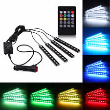 rgb led strip lighting aliexpress com buy 12v car music control rgb led drl strip light