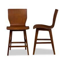 modern stools kitchen baxton studio elsa mid century modern scandinavian style dark