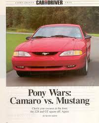 camaro z28 vs mustang gt 1994 mustang gt vs camaro z28 article 2