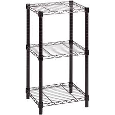 White Wire Shelving Unit by Honey Can Do 3 Tier Storage Rack Wire Shelving Unit Black