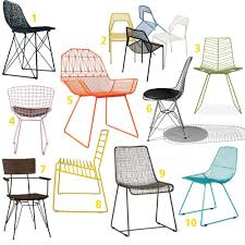 wire and metal mesh dining room chairs mesh chair wire chair and