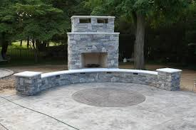Outdoor Fireplace by Outdoor Fireplace Design And Installation Services In Nj
