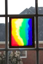 kids art activity window art made out of colored glue what a
