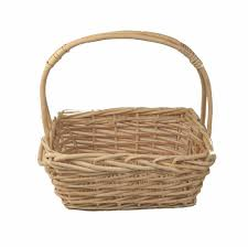 wicker basket with leather handles wholesale wicker baskets the lucky clover trading co