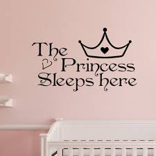 Wall Art Quotes Stickers Popular Princess Wall Art Decals Buy Cheap Princess Wall Art