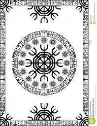 viking runic panel stock illustration image of flourish 6273494