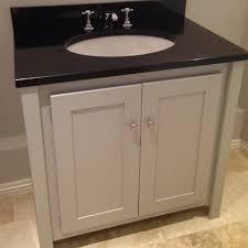 Grey Vanity Unit Pavilion Grey Vanity Unit With Black Granite Top Aspenn Furniture