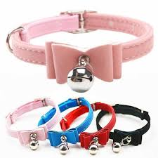 cat collar bow tie bowknot kitten dogs collars with bells pets