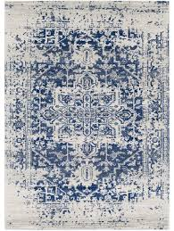 8x10 White Rug Prisha Rug White And Blue Georgia Bedrooms And Living Rooms