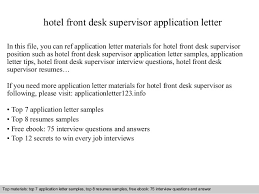 best solutions of hotel front office supervisor cover letter also