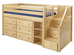 Kids Storage Beds With Desk Kids Full Low Loft Bed With Desk Dresser And Bookcase Home In Bunk