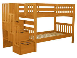 Bunks And Beds Bunk Beds Stairway Honey 579 Bunk Bed King