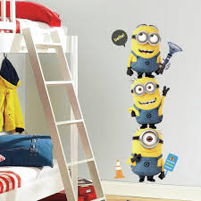 amazon com roommates rmk2081gm despicable me 2 minions giant peel despicable me wall decals despicable me wall stickers minions wall decals minions wall