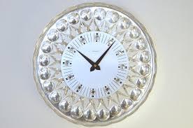 Pendule Murale Originale by Horloge Murale En Cristal Pour Joska 1960s En Vente Sur Pamono