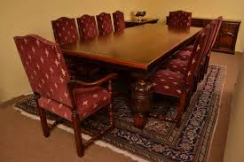 harrods oak dining room suite table 10chairs sideboard
