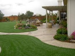 backyard landscaping with concrete walkway and pergola u2013 nice