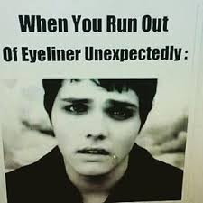 Eyeliner Meme - 19 memes that nailed emo culture features alternative press