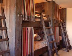 built in bunk beds this would be cool for a log cabin or lake