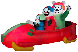 Penguin Home Decor by Animated Bobsled Team Penguin Snowman And Teddy Bear Rite Aid