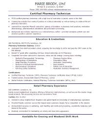 Retail Pharmacist Resume Sample by Resume Example For Pharmacist Assistant Contegri Com