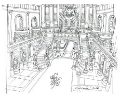 image lindblum castle throne room hallway ff9 art jpg final