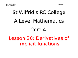 a2 mathematics applications of implicit differentiation by