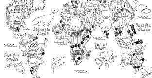 coloriage gratuit carte monde animaux carte monde coloriage