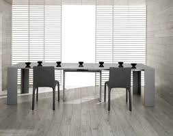 Grey Extendable Dining Table Morph Modern Ultra Compact Extendable Grey Gloss Dining Table