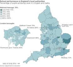 Hull England Map by Primary League Tables Regional Picture Bbc News