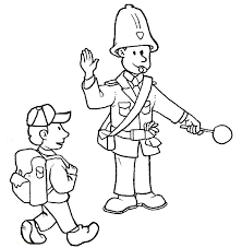 police coloring pages crossing guard coloringstar