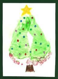 handprint and footprint christmas crafts christmas craft a day